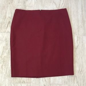 Adrianna Papell skirt maroon red size 14
